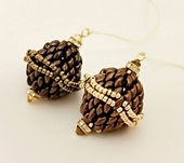 Beadwork SuperDuo Bronze Bauble Christmas Decoration Kit